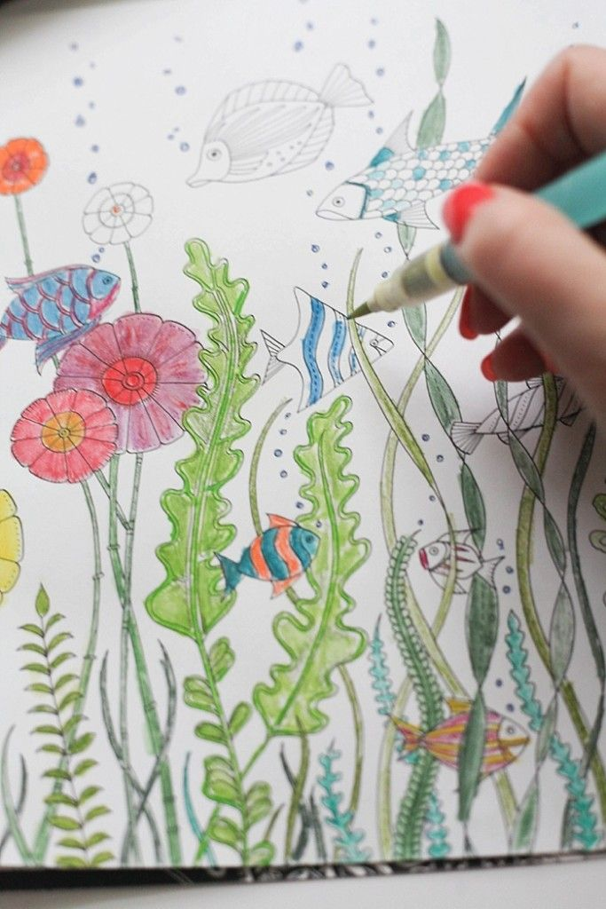 Great post full of info for adult coloring books like her favorite coloring  books