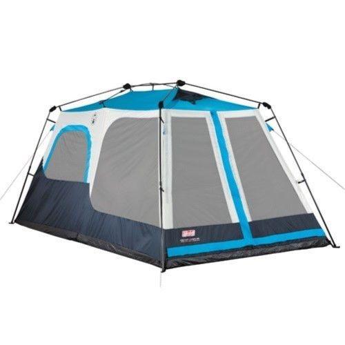 Coleman Instant Cabin 8 Tent Navy Blue Tan 2000015607 Instant Tent Cabin Tent Tent