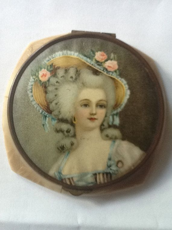 Vintage French Celluloid Compact Mirror by VeryVintageVirginia, $32.00