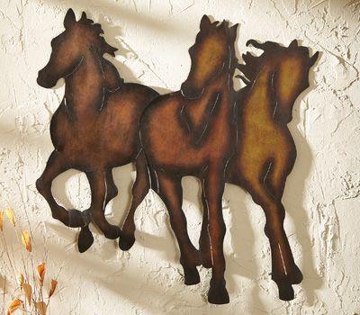 Mustangs Western 3D Metal Wall Art Decor | Wish List | Pinterest ...
