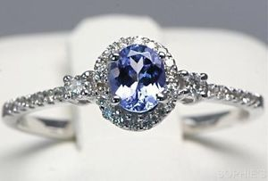 wedding set white design gold tanzanite engagement media unique rings carat ring