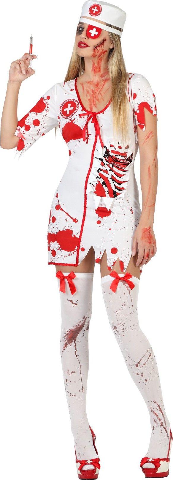 D Guisement Infirmi Re Ensanglant E Femme Halloween Maquillage Pinterest Costumes And