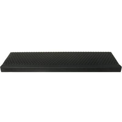 Rubber Cal Coin Grip Commercial 10 In X 48 In Rubber Step Mat 6 Pack Black In 2020 Black Stairs Stair Treads Stair Mats