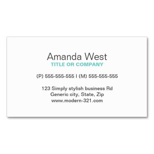 Aqua blue modern generic simple elegant personal business card aqua blue modern generic simple elegant personal business card accmission Choice Image