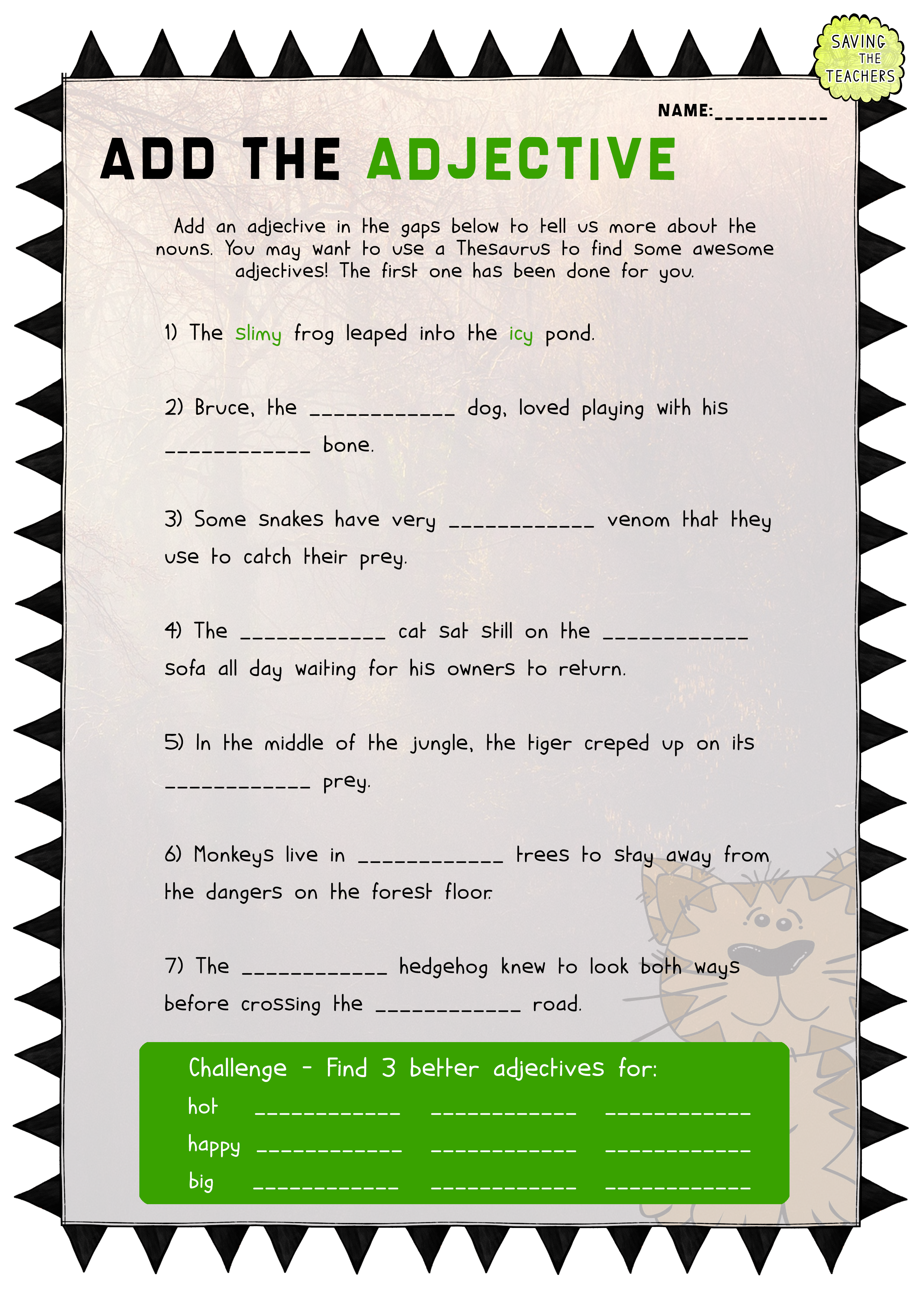 Adjective Activity and Worksheet Pack This is one of the – Thesaurus Worksheets