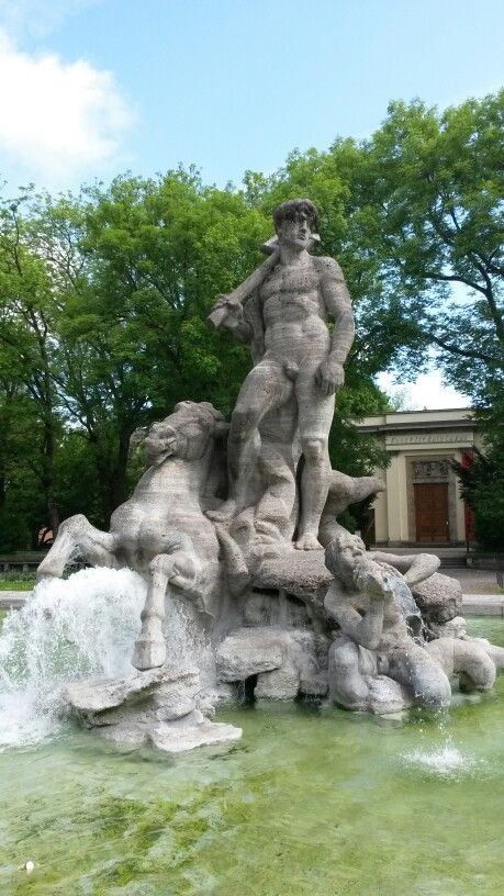 alter botanischer Garten München Brunnen Fontaines Fountains in 2019 Botanischer garten  ~ 07043525_Brunnen Bohren Garten München