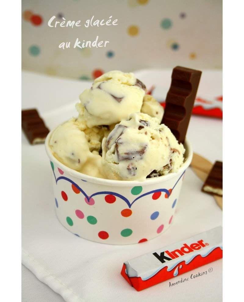 glace au kinder avec ou sans sorbeti re yummmyyy pinterest desserts ice cream and. Black Bedroom Furniture Sets. Home Design Ideas