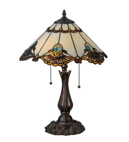 """Meyda 21""""H Shell With Jewels Table Lamp"""