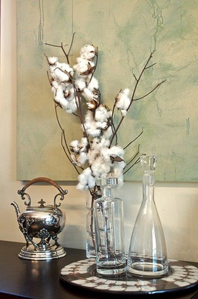 Eclectic Revisited By Maureen Bower Cotton Decor Centerpiece Decorations Land Of Cotton