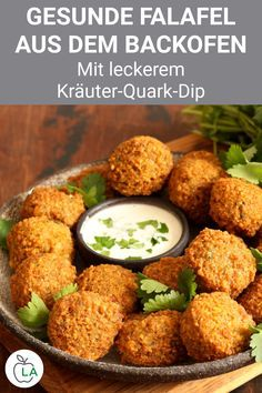 Gesunde Ofen Falafel mit Kräuterquark - Fitness Re