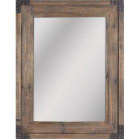 Allen + Roth X Reclaimed Wood Beveled Rectangle Framed French Wall Mirror  Main Floor Bathroom