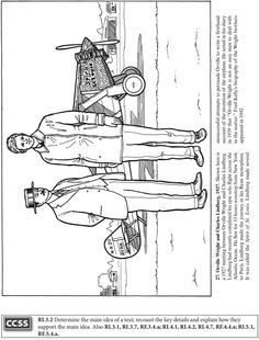 Wright Brothers Coloring Sheets Google Search Happy