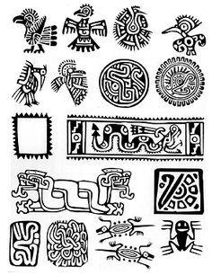 Simbolos Mayas Mas Dibujos Precolombinos Simbolos Aztecas Simbolos Mayas