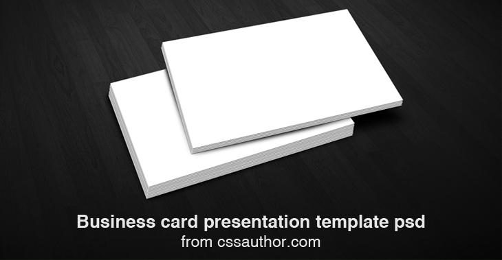 Business card presentation template psd cssauthor graphic business card presentation template psd cssauthor flashek Choice Image