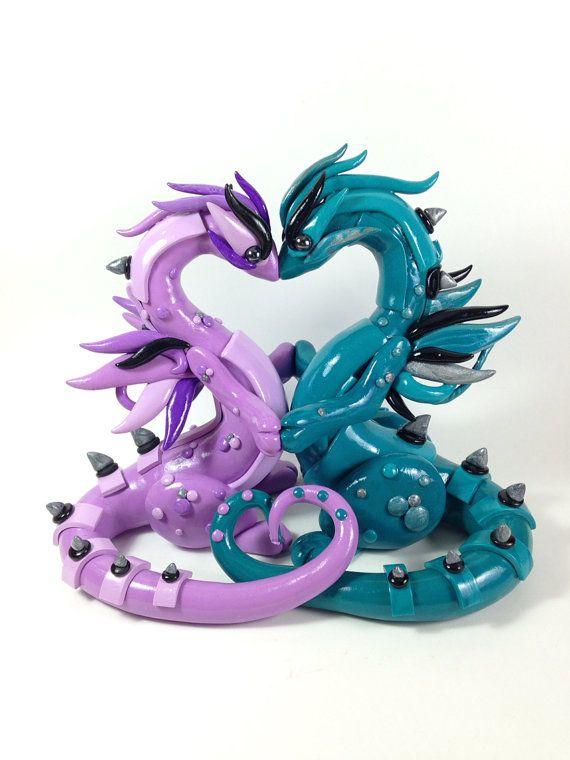 Custom Dragon Wedding Cake Topper Dragon Wedding Cake Dragon Wedding Clay Dragon