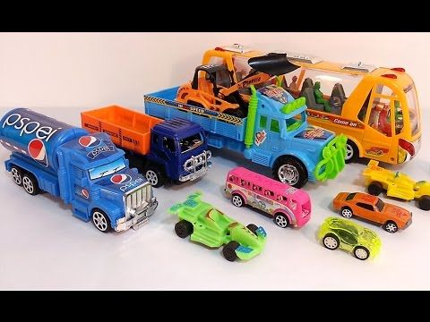 small toy cars for kids toy truck vehicles toy videos for children 067