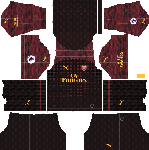 Arsenal 2018-19 Kit Goalkeeper 512x512 Dream League Soccer