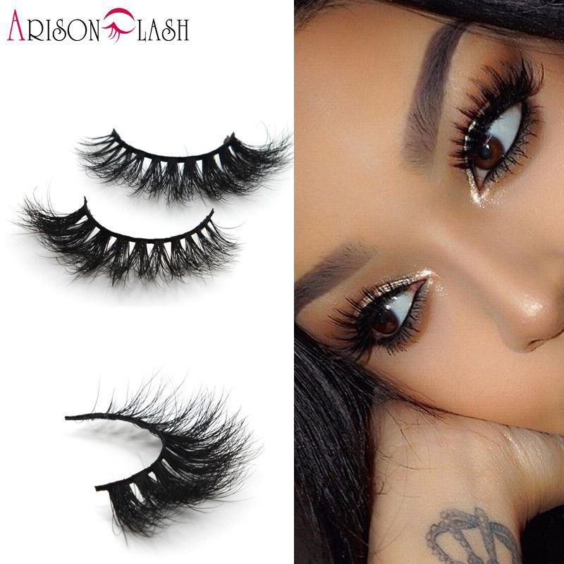 Glorious 1 Pair Elegance 3d Natural Bushy Cross False Eyelashes Mink Hair Handmade Eye Lashes Makeup Cosmetic Tools Selected Material Beauty Essentials