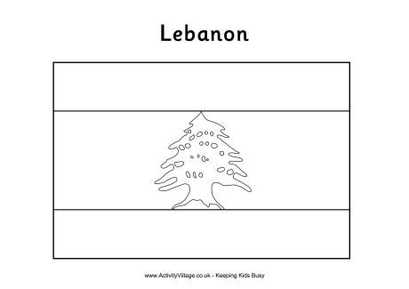 Lebanon Colouring Flag With Images Color Colouring Printables