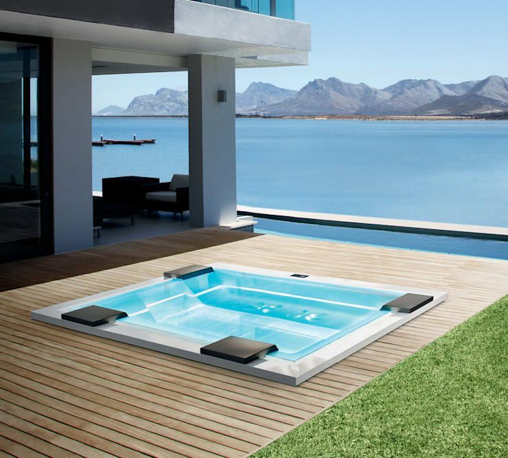Aufblasbarer Outdoor Whirlpool auf Terrasse/Balkon mit