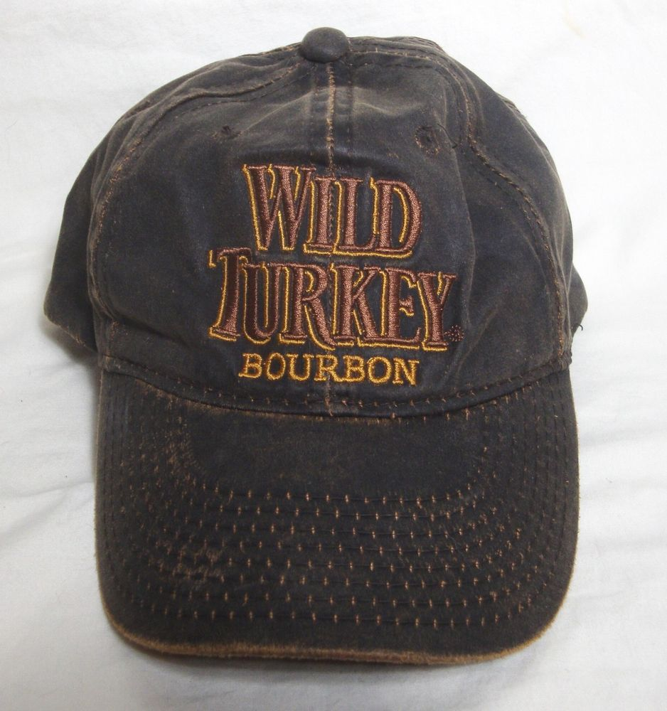 00404837 Wild Turkey Bourbon Liquor Trucker Cap Gray Brown Cotton Baseball Hat  Adjustable #WildTurkeyBourbon #Trucker