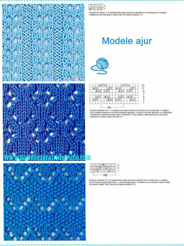 72 patrones con foto de motivos y esquemas de Puntos Dos Agujas ...