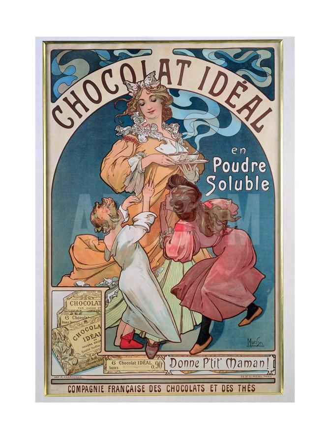 Poster Advertising Chocolat Ideal 1897 Giclee Print By Alphonse