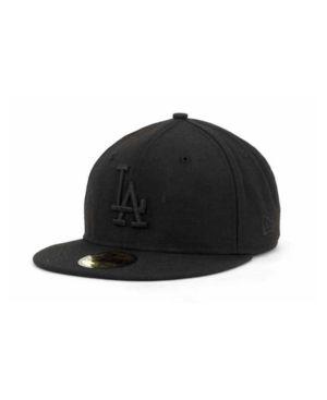 04fbf3206b8 New Era Los Angeles Dodgers Black on Black Fashion 59FIFTY - Sports Fan  Shop By Lids - Men - Macy s