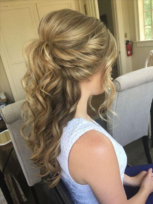 Die Besten Brautfrisuren Fur Halb Offene Haare Und Hochgesteckte Frisuren Ha Frisuren Half Updo Hairstyles Hair Styles Wedding Hair Half