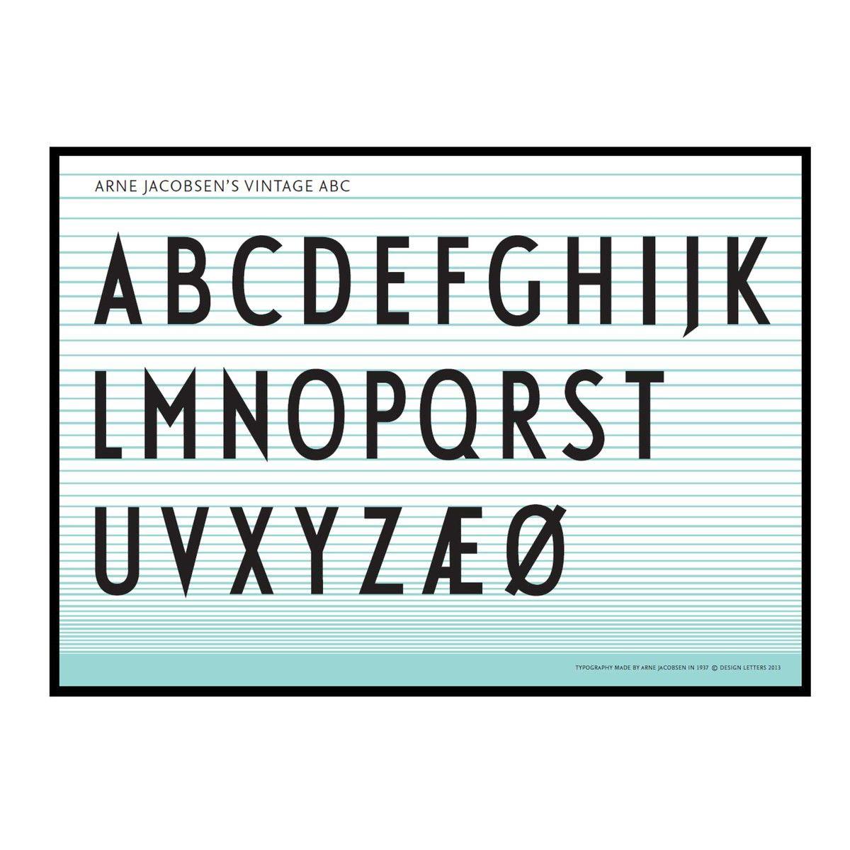 Poster design 50x70 - Design Letters Abc Poster 50 X 70 Cm