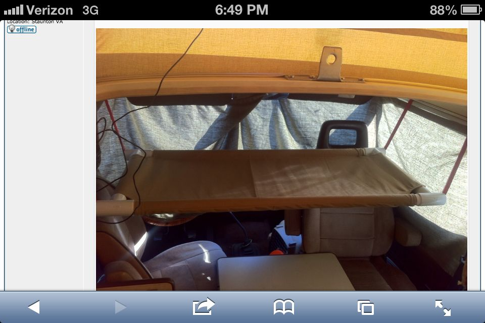 Pvc Hammock For Front Seats Kayak Storage