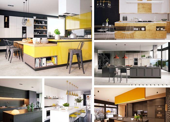 ▷ 1001 + variantes de la cuisine avec îlot central moderne et - Cuisine Contemporaine Avec Ilot