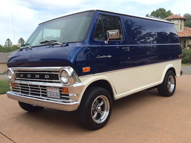 1974 Ford Van E100 Ford Van Vintage Vans Custom Vans
