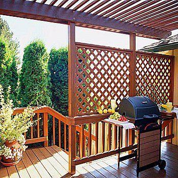 deck railing lattice panels...nice for privacy...but still airy ... - Patio Lattice Ideas