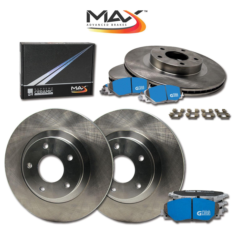 Front Discs Brake Rotors and Ceramic Pads For Pontiac Grand Prix 2004 Drill Slot