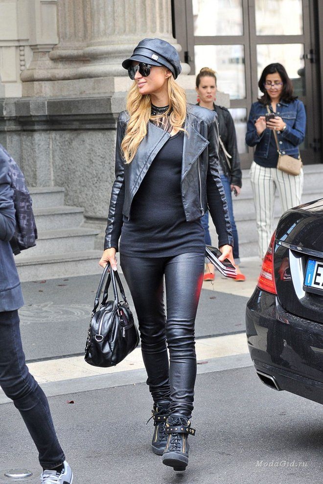Знаменитости  Уличный стиль знаменитостей  сентябрь 2016   Leather ... e1d883ab630