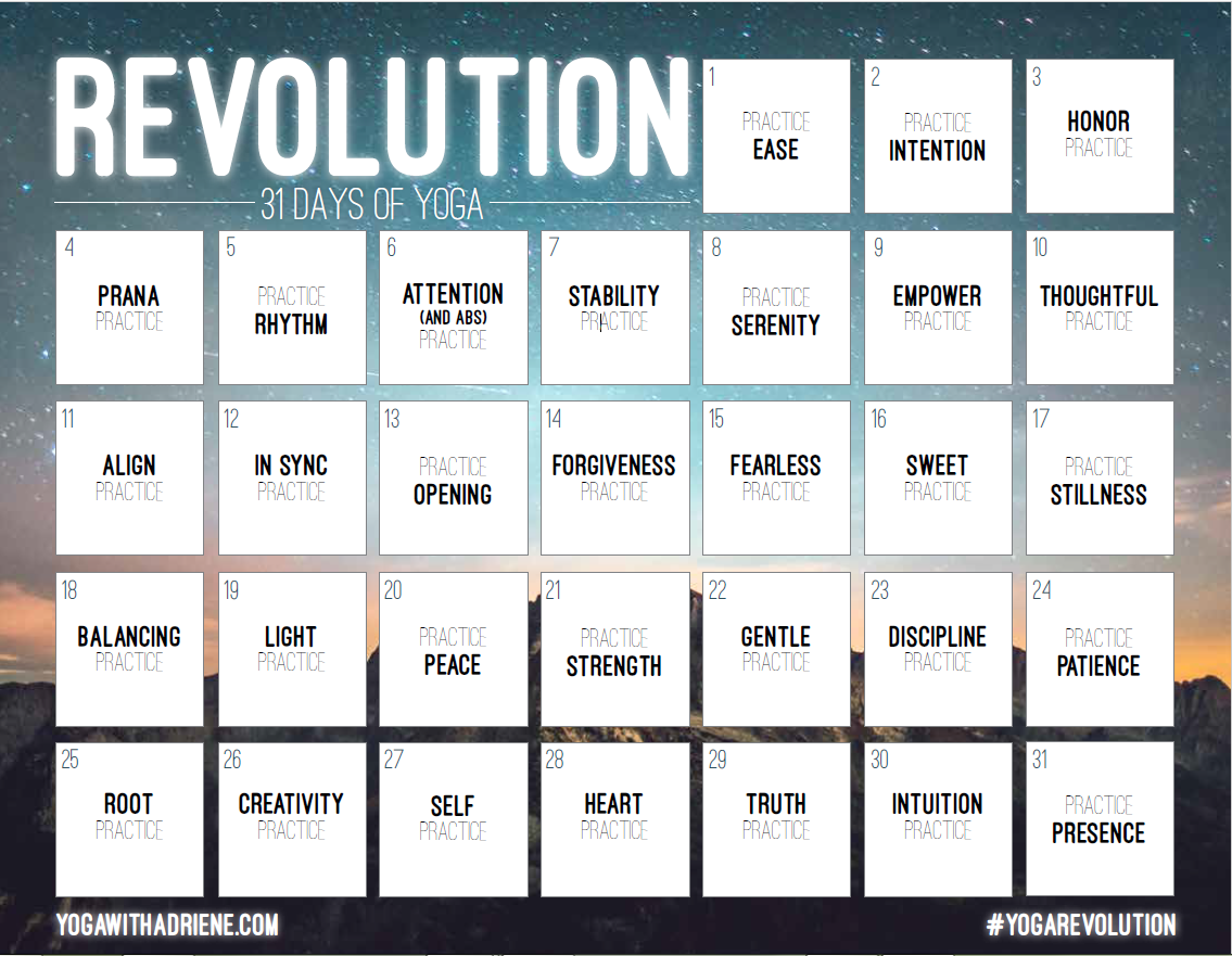 REVOLUTION: 31 Days of Yoga | Yoga | Yoga, Yoga with ...