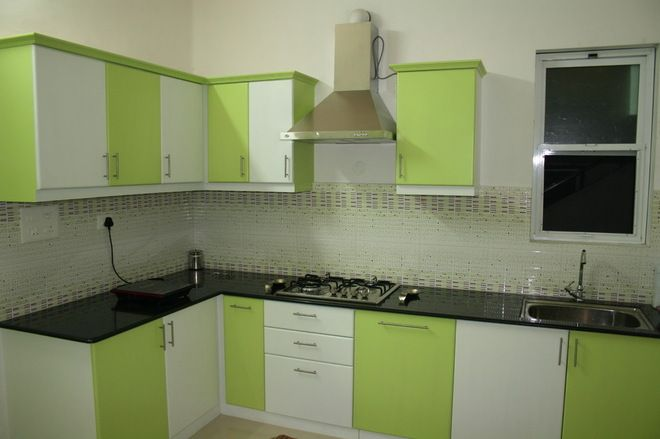 Green And White Kitchen Cabinets Simple Kitchen Design Small House Kitchen Design Kitchen Design Small