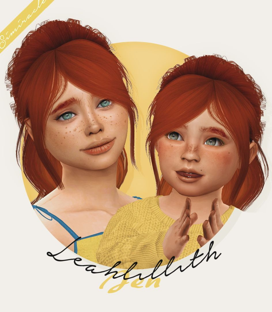 Sims 4 Hairs ~ Simiracle: LeahLillith`s Jen hair retetured - kids and toddlers version#hair #hairs #jen #kids #leahlilliths #retetured #simiracle #sims #toddlers #version