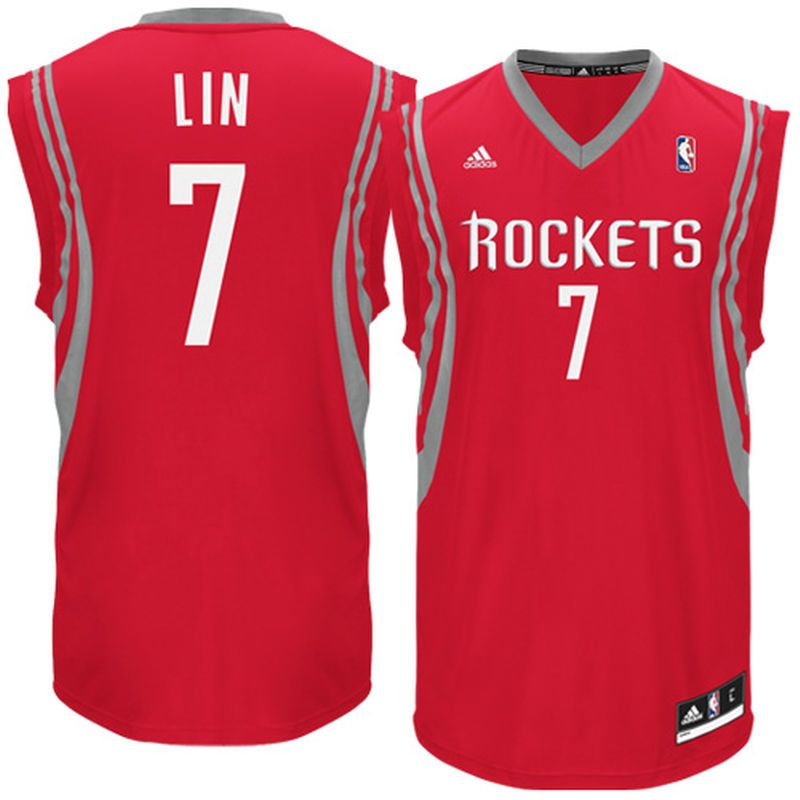 18009e49b Jeremy Lin Houston Rockets adidas Replica Road Jersey - Red ...
