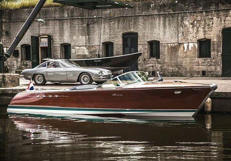 "• In Honor of Carlo Riva, the king of motorboats. RIP Carlo Riva, an Italian Legend. Riva Acquarama ""Lamborghini"" - Lamborghini 350 GT •"