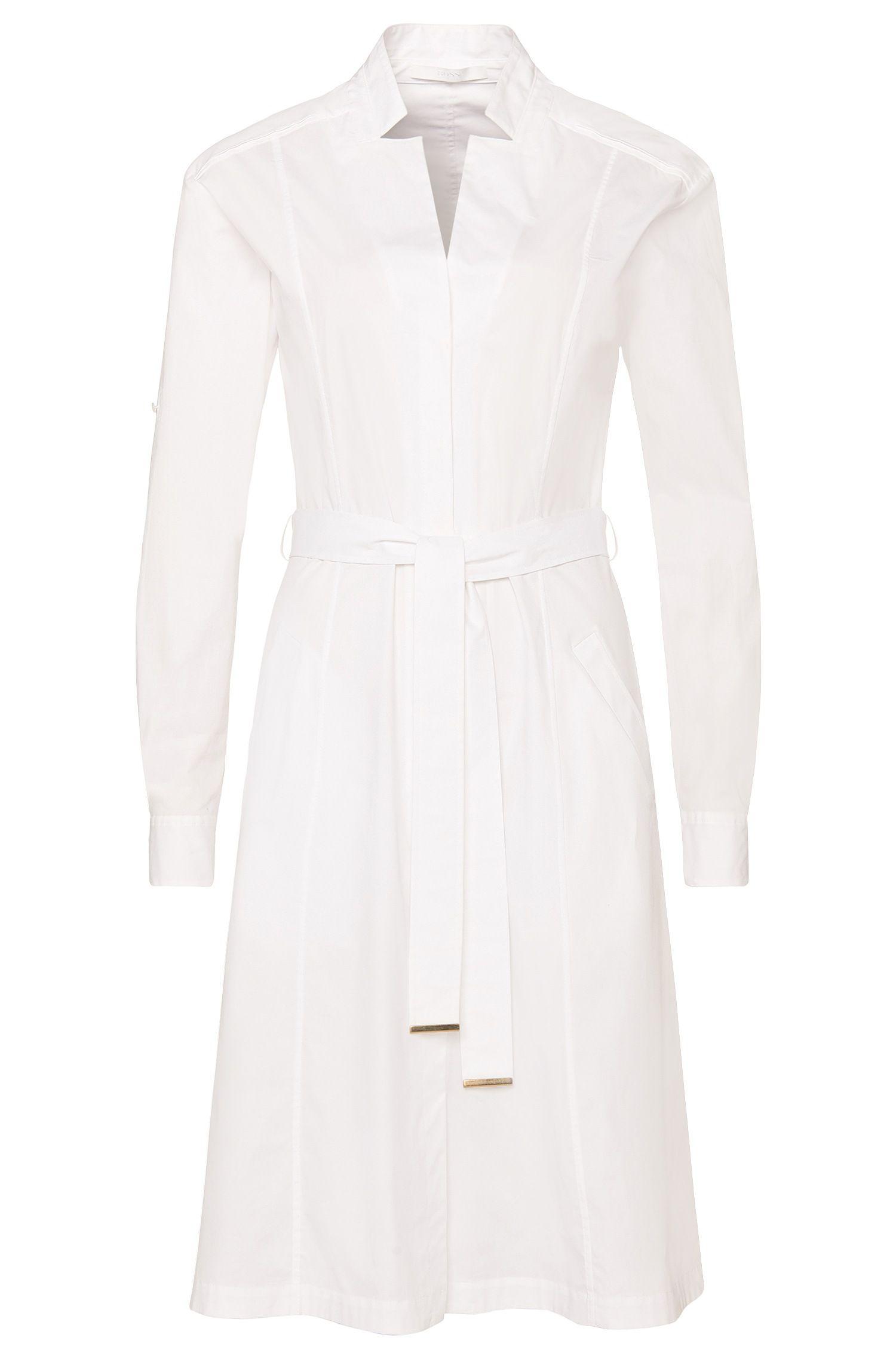 a8211f2b9 DAI ~*~ BOSS: 'Doctina' | Stretch Cotton Belted Shirt Dress | Prêt-à ...