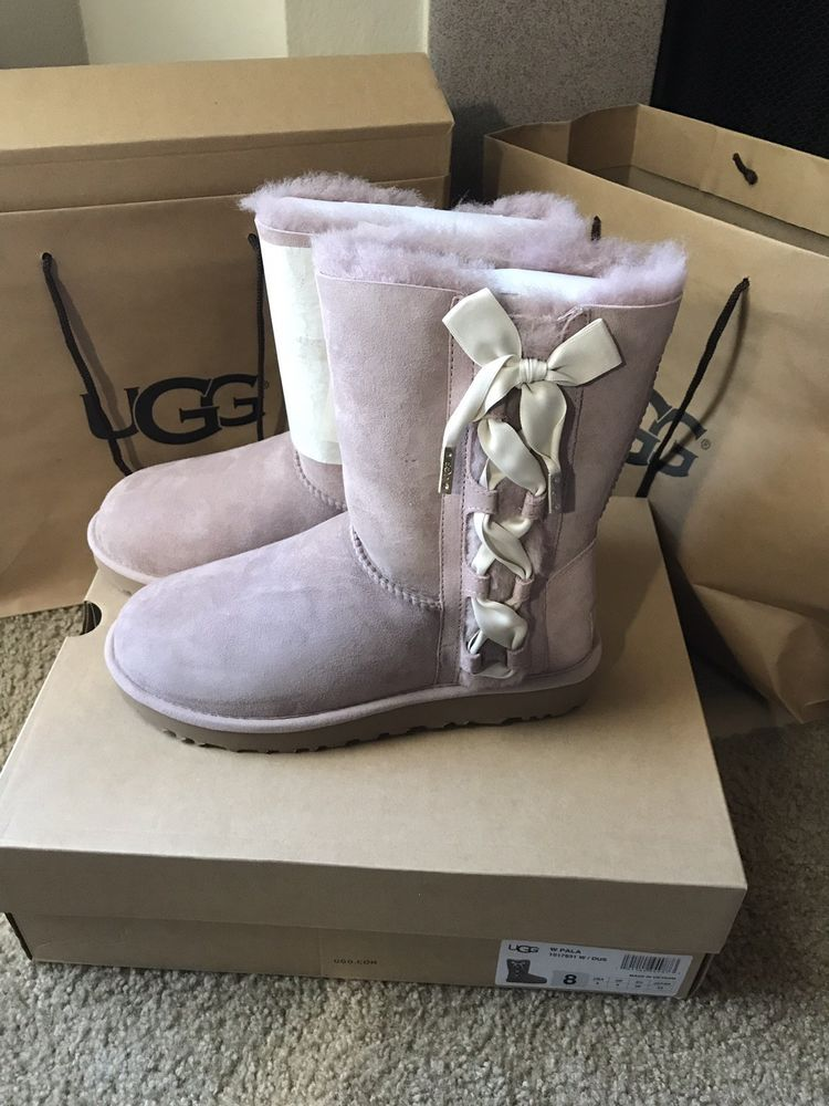 Ugg Pala Dus Suede Sheepskin Corset Ribbon Women S Boots Size Us 8 Uk 6 New Fashion Clothing Shoes Accessories Womensshoes Ebay Link