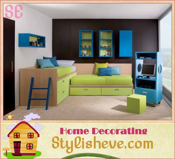 Modern Kids Bedroom Ideas For Small Space. Around The Corner. Would Be Great If The Drawers Were