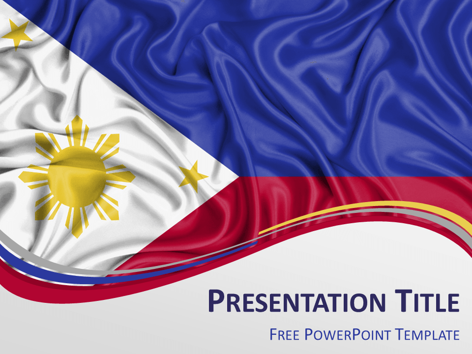 Free PowerPoint template with flag of Philippines ...