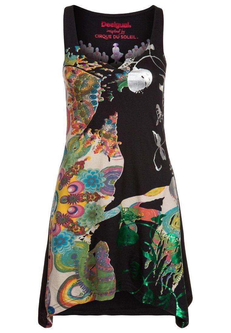 Desigual Shirt Multicolor Tunika Tunic Floral V Neck Kleid ...