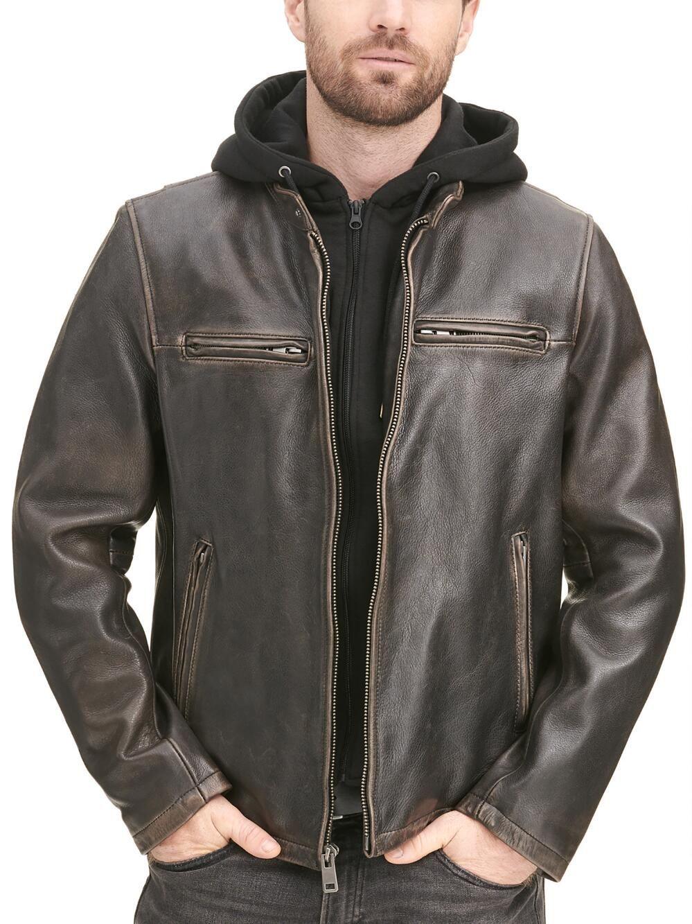 Alan Leather Jacket With Hood Leather Jacket With Hood Leather Jacket Jackets [ 1333 x 999 Pixel ]