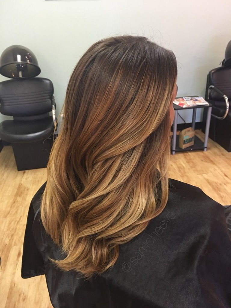 caramel highlights dark hair