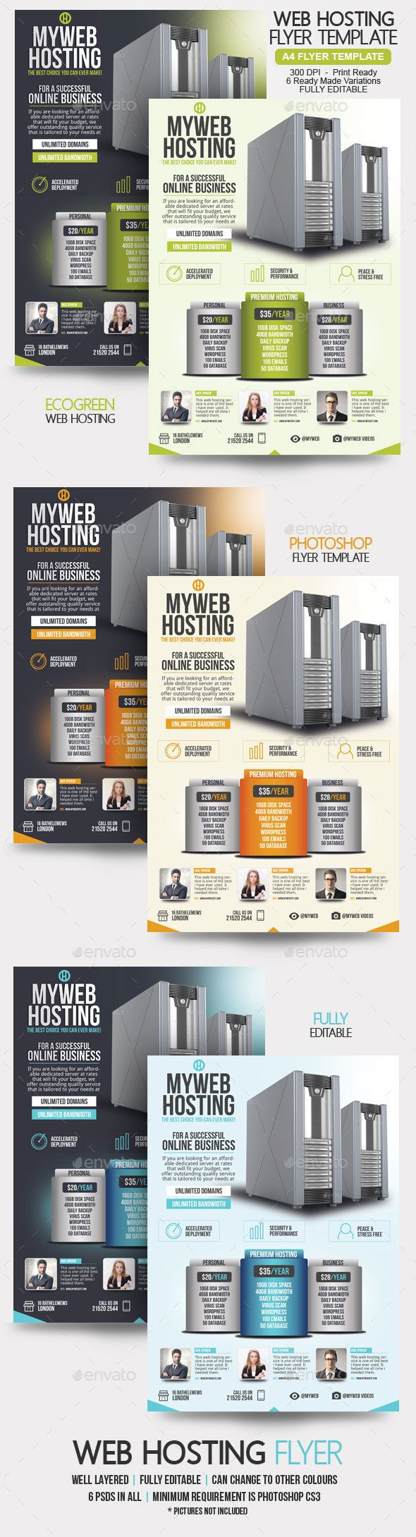 Web Hosting Flyer Template  Flyer Template Template And