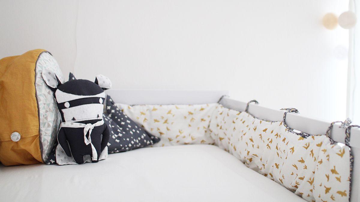 Nähanleitung nestchen für das babybett nähen